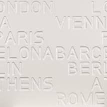 Infrarotpaneel | Material: Beton - Design: PUR City (dreidimensionale Oberfläche) von heat-style LINHART Graz