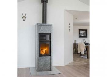 Holzbrandofen | Modell: SCAN Line Speckstein mit Backfach | heat-style LINHART Graz